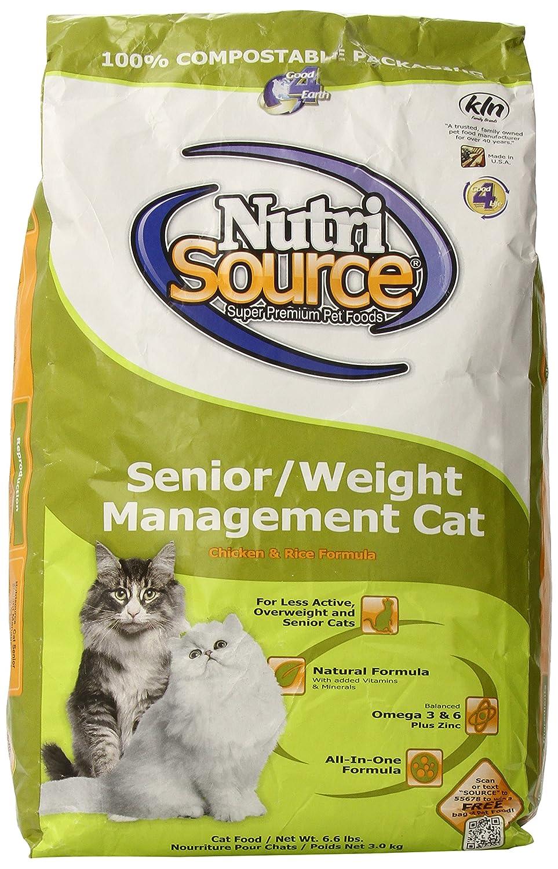 6.6 Pound Tuffy's Pet Food Nurri Cat Senior Weight Management  cken /Rice Food