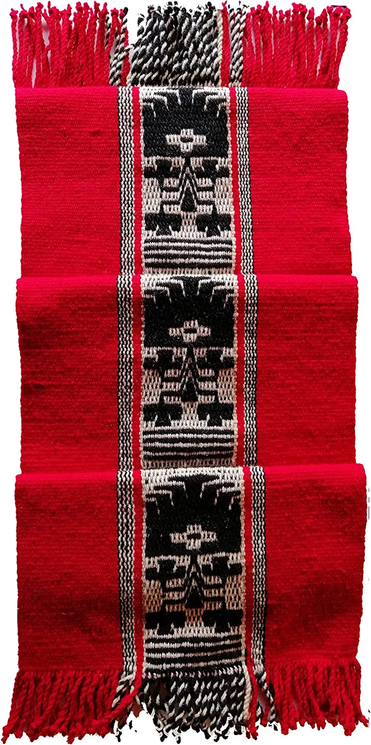 Table Runner – Handmade Mapuche Table Runner – 70-inch Kitchen Table Runner – Made with Natural Sheep Wool – Mapuche Artisan Original Design – Premium Home Décor