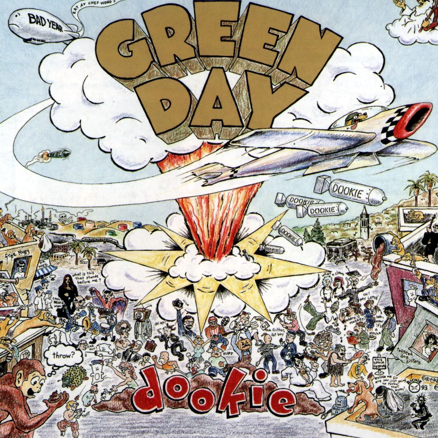 Green Day – Dookieアルバムカバーアートプリントポスター 24 inch x 24 inch B079S2D4QH A 24 inch x 24 inch