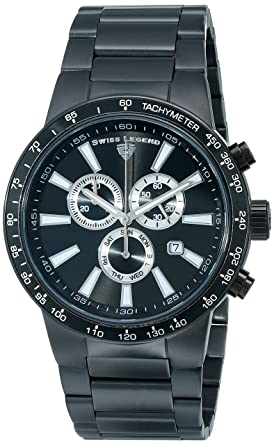 Swiss Legend Men's 10057-BB-11 Endurance Collection Chronograph Stainless  Steel Watch