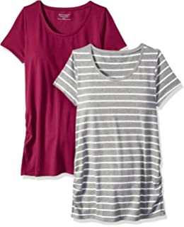09ff70710418c Motherhood Maternity Women's Maternity BumpStart 2 Pack Short Sleeve Tee  Shirts