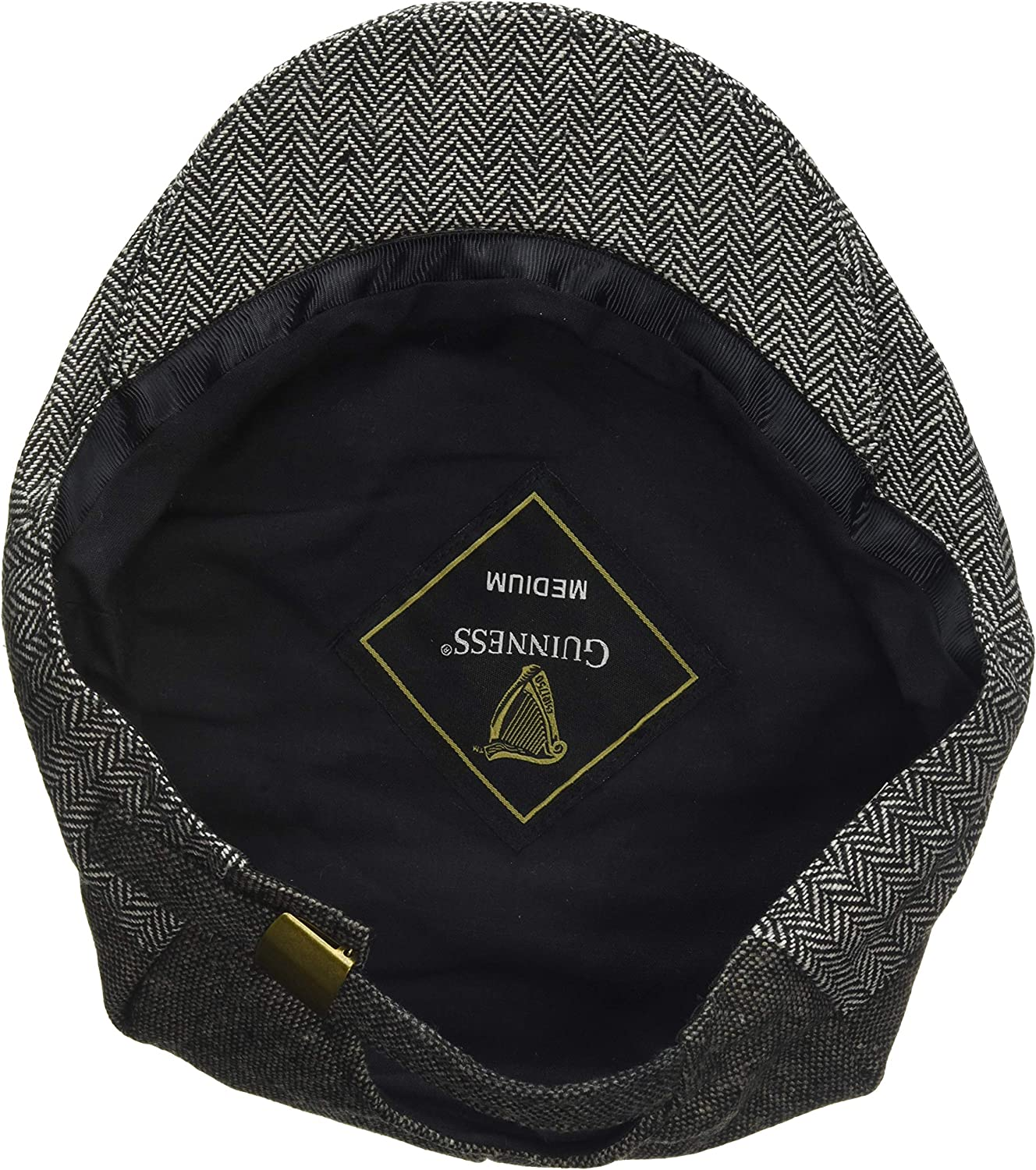 Guinness Official Grey Tweed Flat Cap