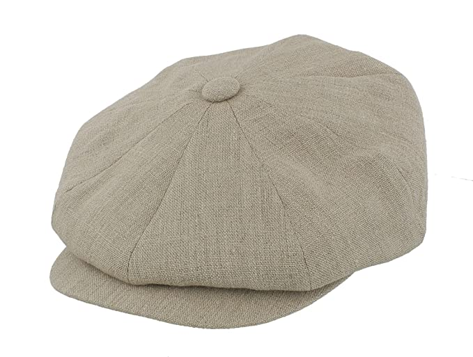 1920s Fashion for Men Failsworth 100% Irish Linen Alfie Bakerboy Cap £17.95 AT vintagedancer.com