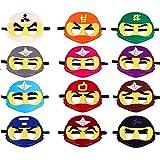 MALLMALL6 12Pcs Ninja Masks Dress Up Costume Ninja Themed Birthday Party Favors Games Ninja Masters Pretend Play…