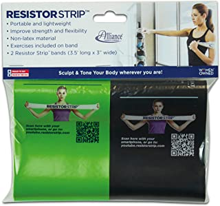 """product image for Alliance Rubber 09751 Non-Latex Resistor Strips Exercise Bands, 2 Pack (3.5' x 3"""")"""