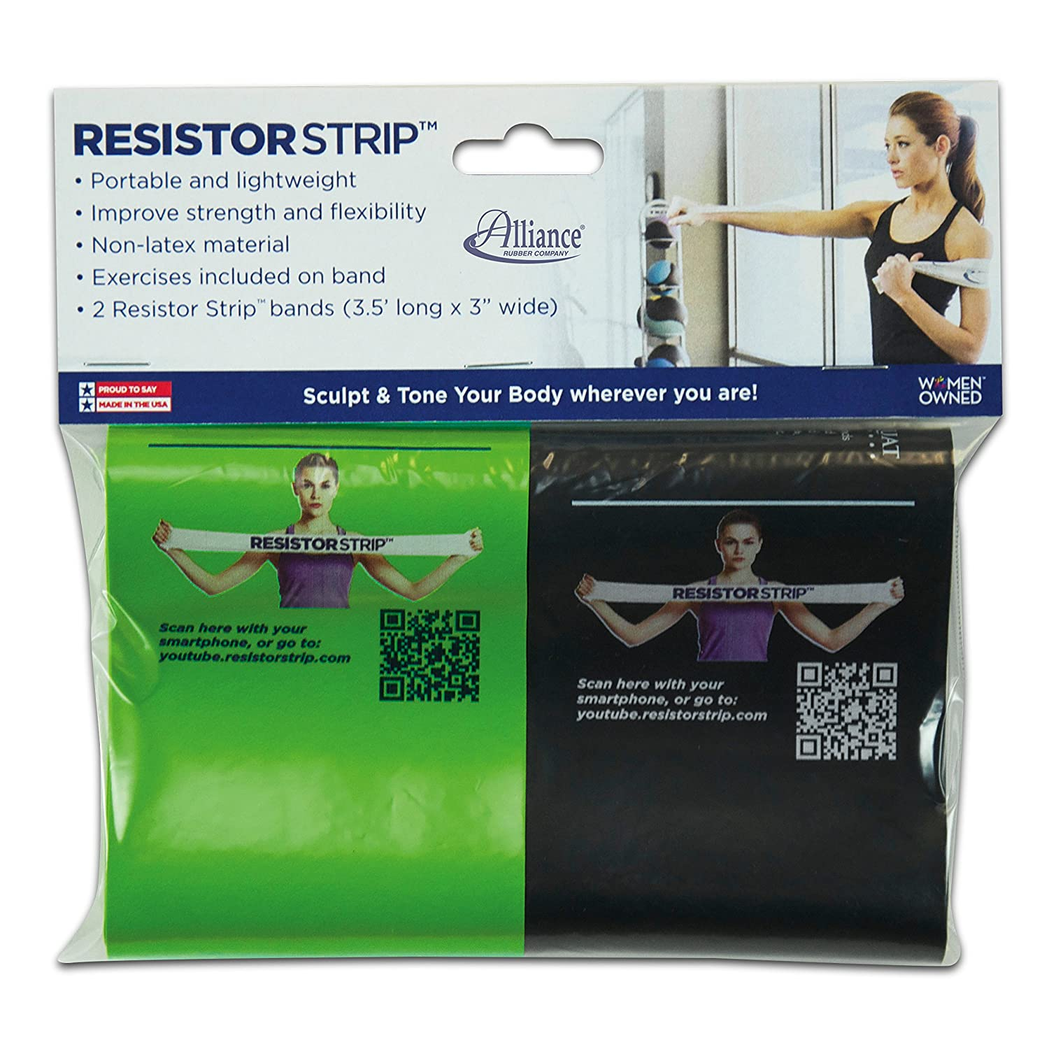 Alliance Rubber 09751 Non Latex Resistor Strips We Can Tell The Resistance Of A By Reading Its 4 Or 5 Band Exercise Bands 2 Pack 35 X 3 Office Products