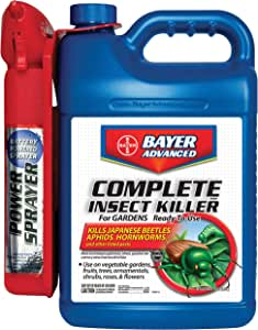 Bayer Advanced 700287A Complete Brand Insect Killer For Gardens Ready-To-Use Power Sprayer, 1.3-Gallons