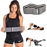 BEST Hip Circle Peach Booty Glute Squat Resistance Fitness Band Set by qsta - BAND + PERSONAL TRAINER + WORKOUT PLAN - Get your fit girl beach body bootie thigh loop bands loops Katy Hearn for Women