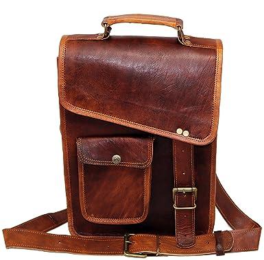 7aea8ba441 PV-Stylish Men s Genuine Distressed Leather Brown Shoulder Messenger  Passport Bag Murse Sling Bag Leather