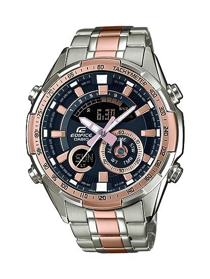 Casio Reloj Analógico-Digital para Hombre de Cuarzo con Correa en Acero Inoxidable ERA-600SG-1A9VUEF: Amazon.es: Relojes