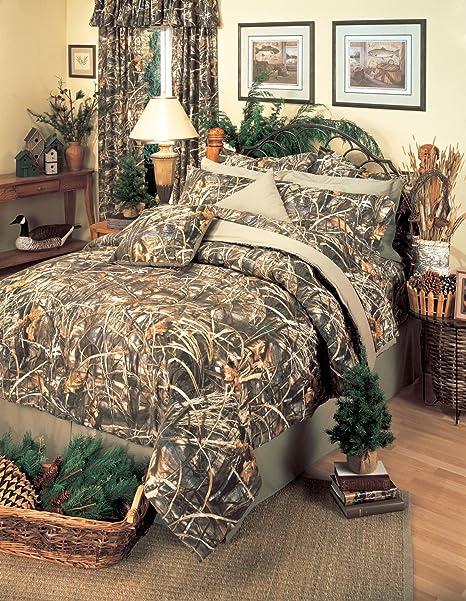 Realtree All Purpose Camo Comforter Set  Camouflage Bedding FREE VALANCE