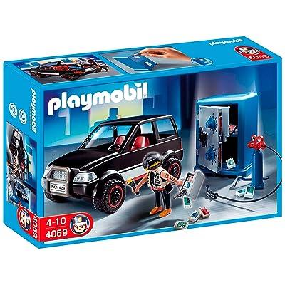Playmobil 4059 - Jeu de construction - Voiture et cambrioleur de coffre-fort