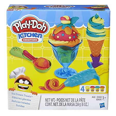 Amazon.com: Play-Doh Kitchen Creations Ice Cream Treats: Toys & Games