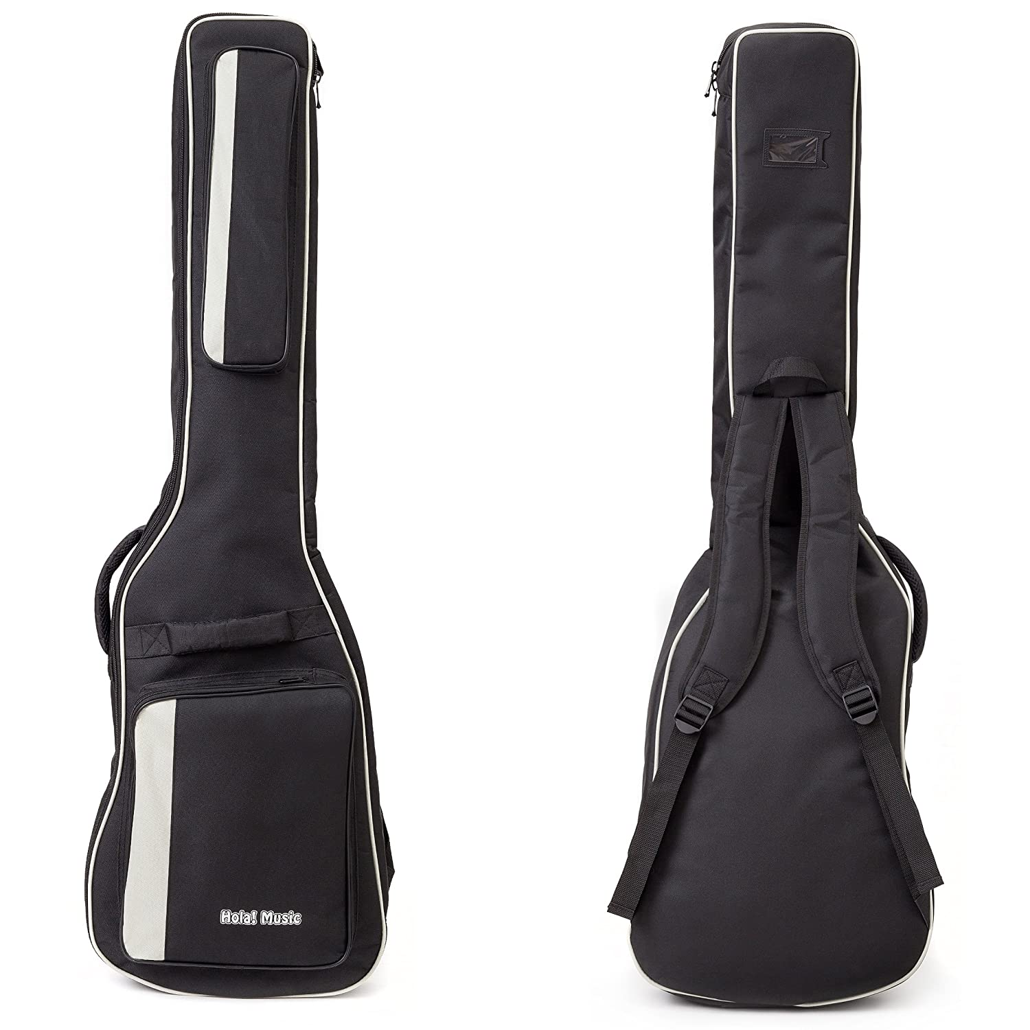 Acoustic and Classical Guitars Gig Bag Full Size (41 inch) by Hola! Music, Deluxe Series with 15mm Padding, Black Hol-2882