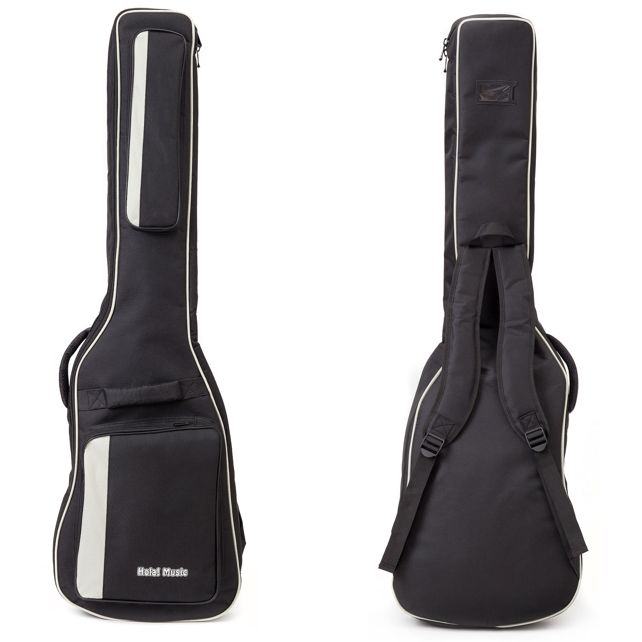 f0c58a569d Amazon.com: Bass Guitar Gig Bag by Hola! Music, Deluxe Series with 15mm  Padding, Black: Musical Instruments