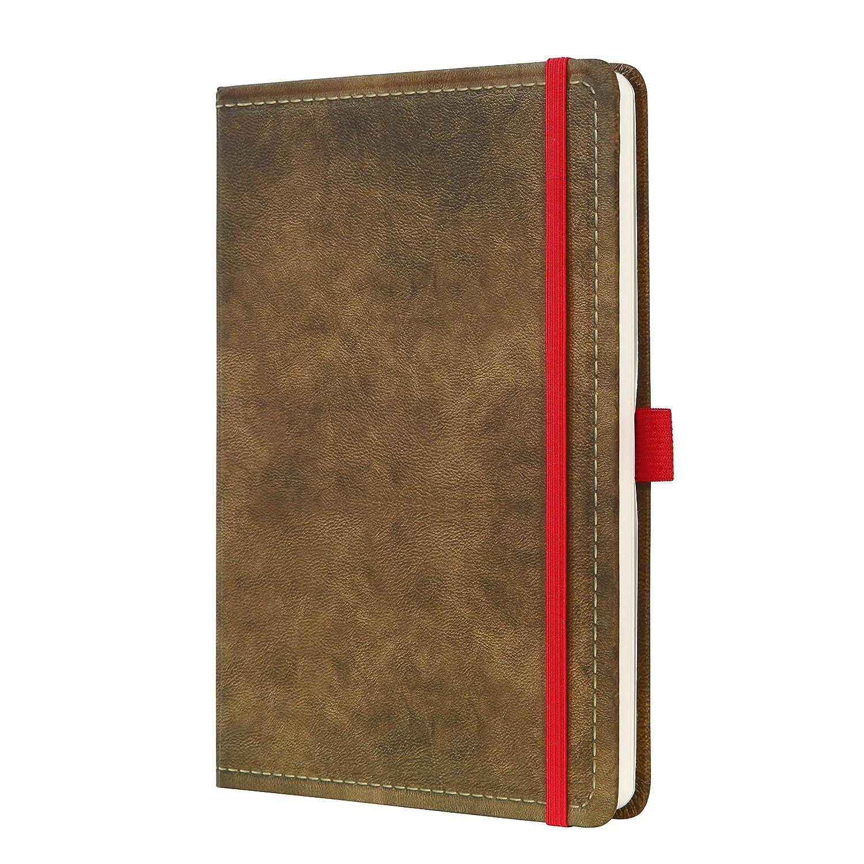 194 pagine a righe motivo Vintage marrone SIGEL CO639 Taccuino Conceptum copertina rigida circa A4