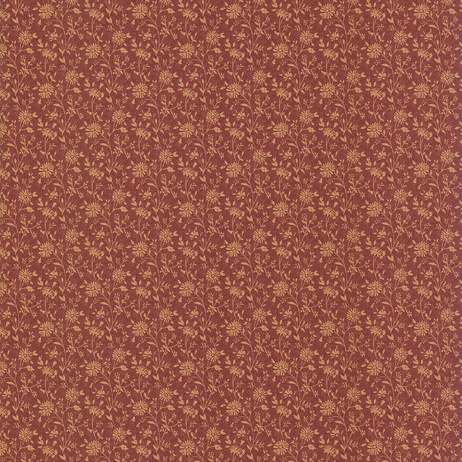 Brewster 413 58506 Janice Country Floral Wallpaper Brick