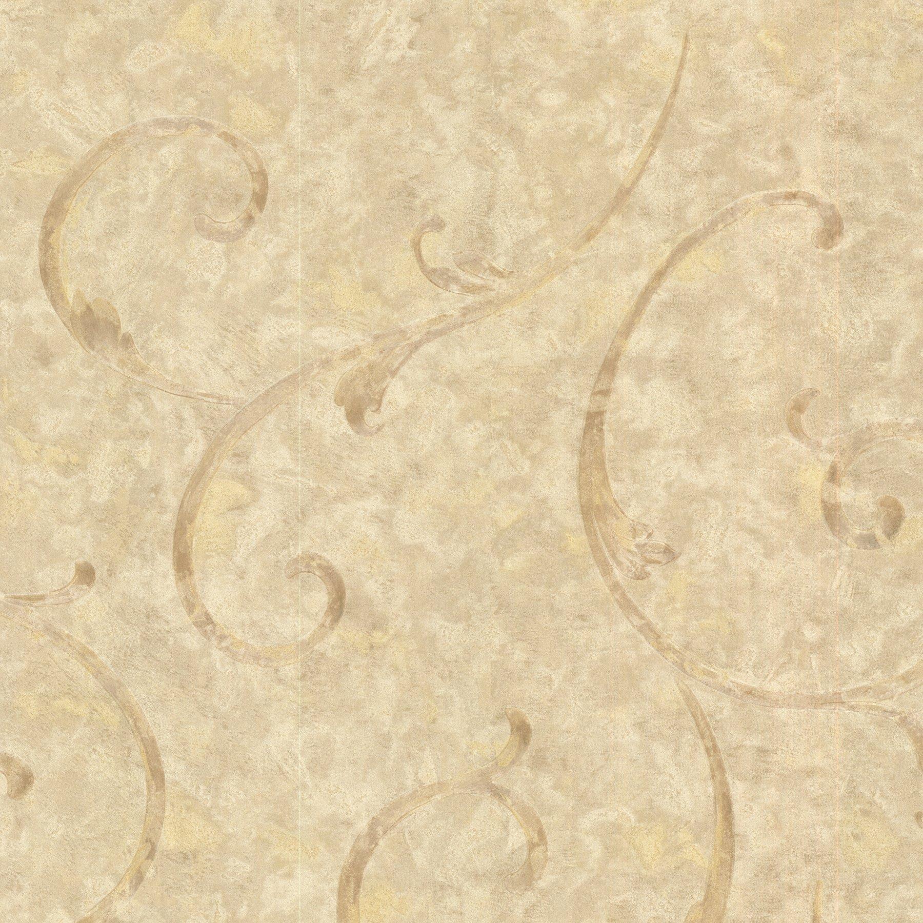 Mirage 2530-60126 Emilie Scroll Wallpaper, Bronze
