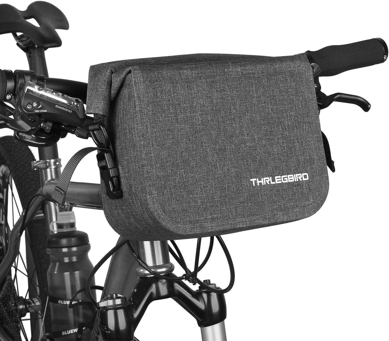Amazon Com Thrlegbird Bike Handlebar Bag Cycling Handlebar Storage Bag Bicycle Front Bag Waterproof Bike Bag Single Shoulder Bag For Bike Cycling Touring Black Sports Outdoors