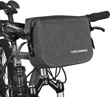 Outdoor Bike Bag Bike Handlebar Bag Zipper Strap Durable Bicycle Front Basket BL