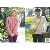 ae9f595d37bb King Cole Ladies Chunky Knitting Pattern Womens Raglan Sleeve Cabled ...