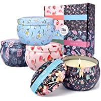 Candle Sets For Women Gift-Balsam + Cedar, Golden Apple Pie, Jasmine + Peach, Honeysuckle + Citrus-Natural Scented…