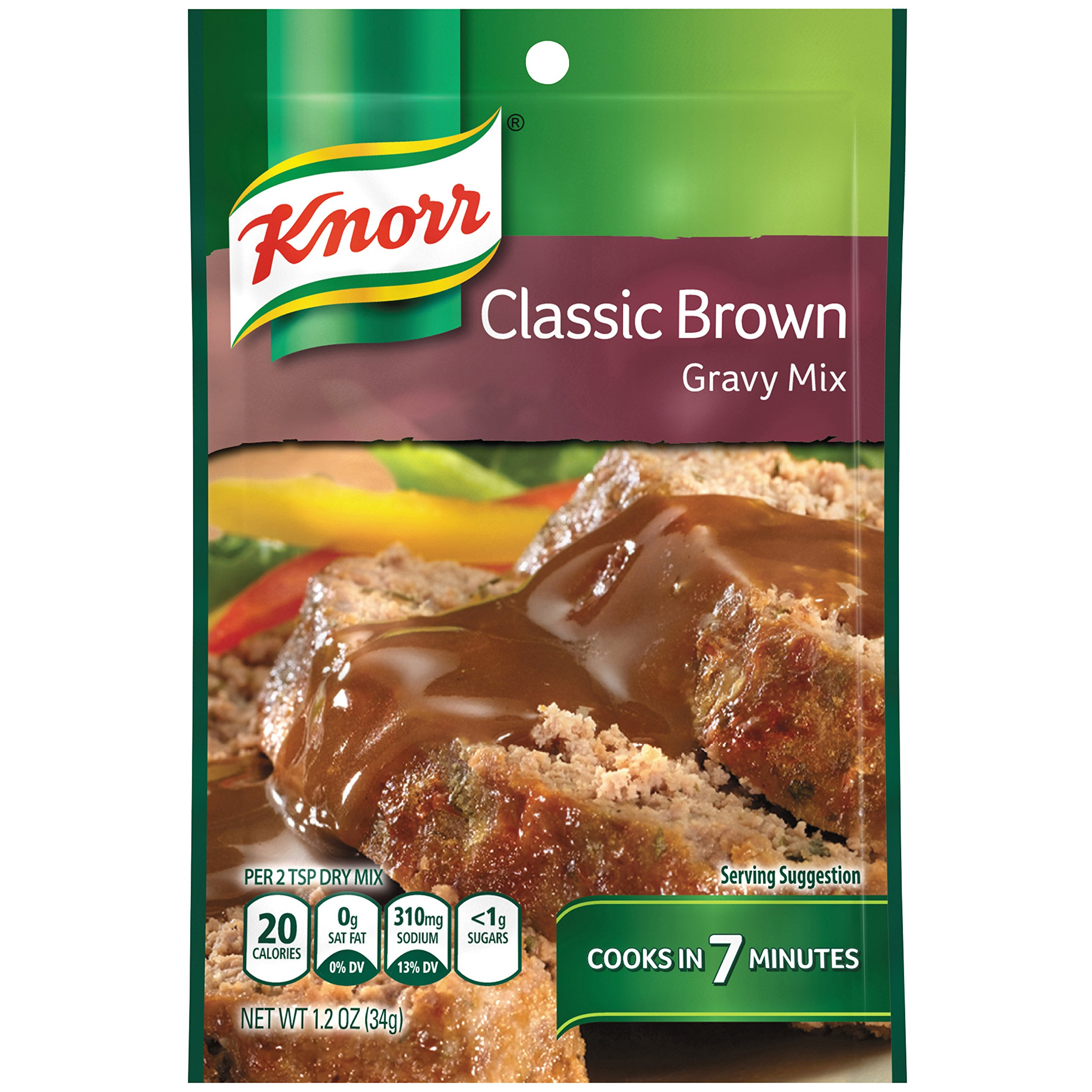 Knorr Gravy Mix Gravy Mix, Classic Brown 1.2 oz (Pack of 12)