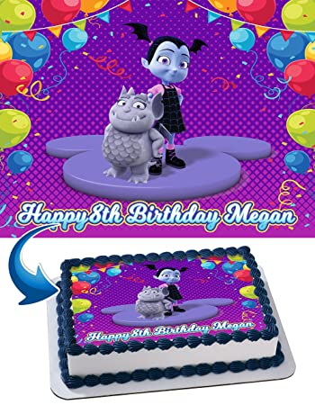 Vampirina Birthday Cake Personalized Cake Toppers Edible Frosting