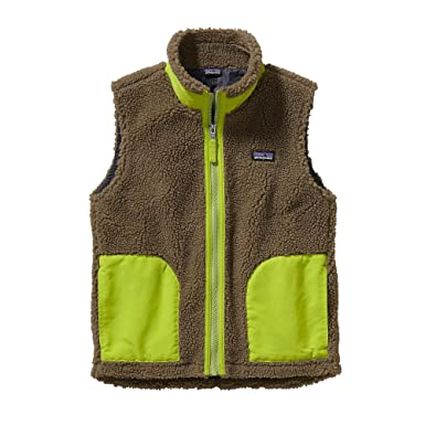 be9d72afe Amazon.com: Patagonia Kids Boys Retro-X Vest (Little Big Kids), Ash ...