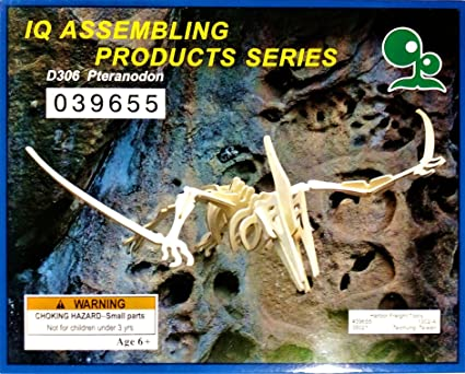 IQ Assembling Product Series Pteranodon (Wooden 3-D Dinosaur Model Puzzle)