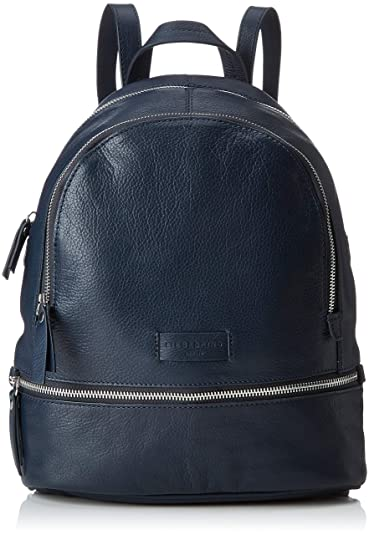 4dddd3681d597 Liebeskind Berlin Damen Essential Lotta Backpack Small Rucksackhandtasche  Blau (Navy Blue) 11x32x26 cm