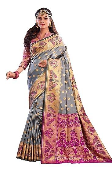 Free Size Details about  /Designer Women/'S Art Silk With Blouse Piece Saree