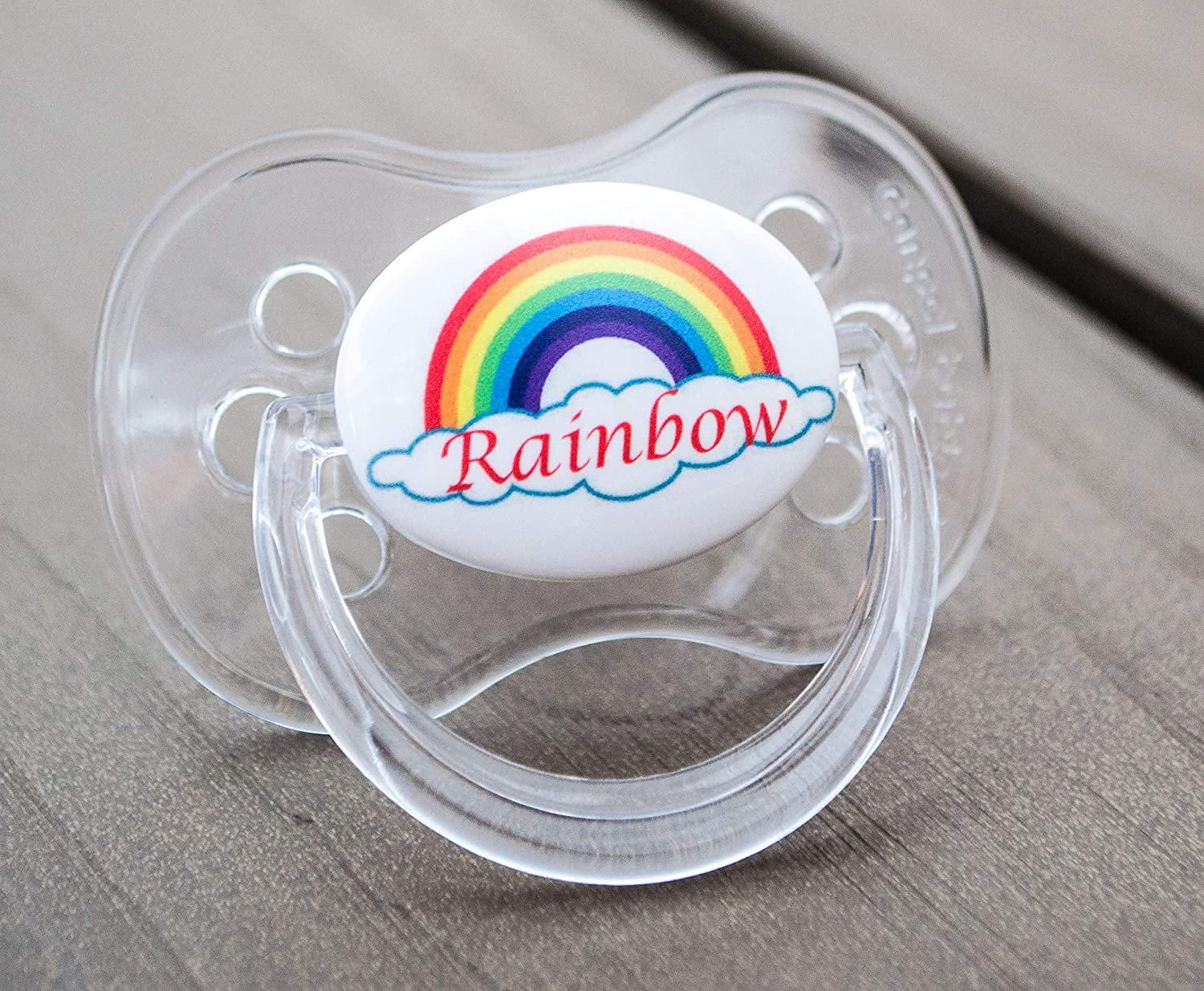PERSONALISED DUMMY PACIFIER SOOTHER,ALL TEATS,SIZES /& COLOURS FIRST CHRISTMAS 1