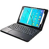 MQ pour Galaxy Tab S2 9.7 - Etui avec clavier bluetooth et pavé tactile intégré multifonctionnel, Clavier français (AZERTY) pour Samsung Galaxy Tab S2 9.7 LTE SM-T815, SM-T819 | Clavier Bluetooth et pavé tactile avec pochette pour Galaxy Tab S2 9.7 WiFi SM-T810, SM-T813 | Housse avec clavier Bluetooth et pavé tactile | Noir