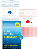 """Blue Ocean Strategy with Harvard Business Review Classic Articles """"Blue Ocean Leadership"""" and """"Red Ocean Traps"""" (3 Books…"""