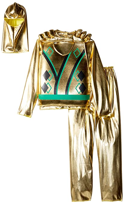 Charades Golden Ninja Series III with Armor Childs Costume, Gold, Large