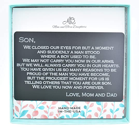821112c877f Amazon.com: Wallet Card For Son. Gift For Son. Graduation Gift ...