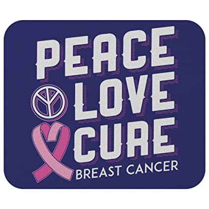 Amazon com : Peace Love Cure Breast Cancer Awareness Comfort Gift