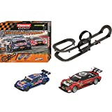Carrera 62423 GO Dtm Touring Contest Slot Race Track Set 1:43 Scale Analog System (Includes 2 Cars and 2 Controllers), Ages 8 and up