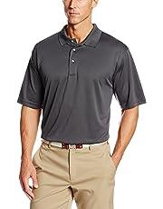 PGA TOUR Men's Airflux Short Sleeve Solid Polo-Shirts