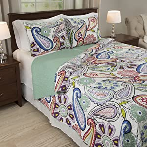 Lavish Home Lizzie 3 Piece Quilt Set - King