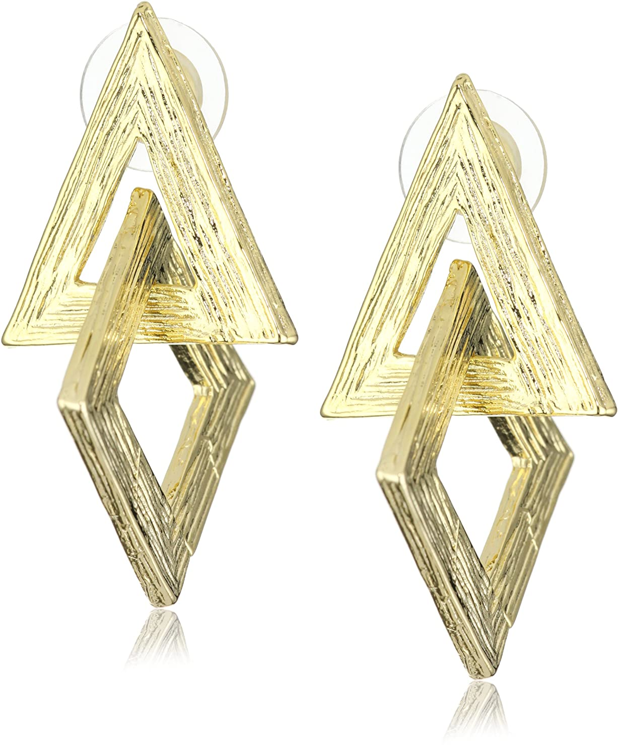 cool kill drop dolls silver geometric earrings