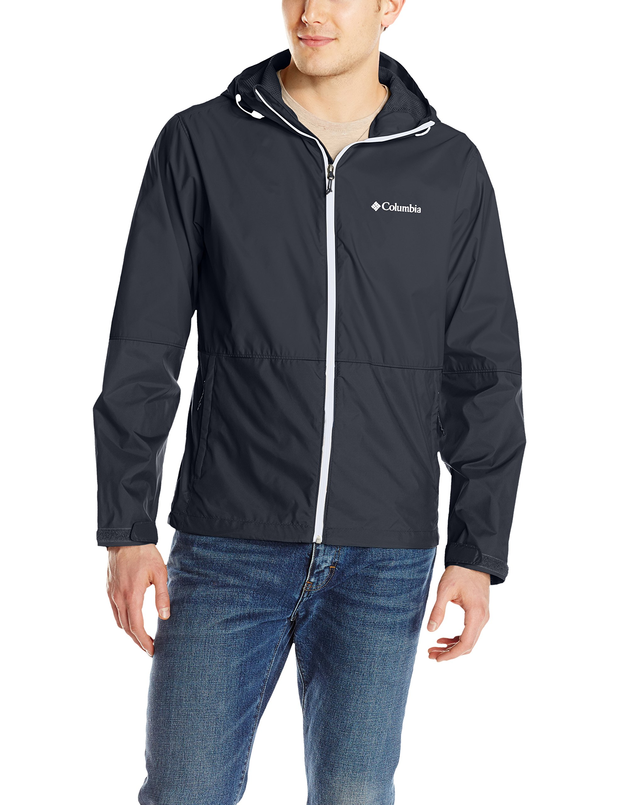 Columbia Men's Roan Mountain Jacket, Black/White, Medium by Columbia