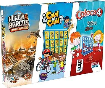 Falomir Coloca 4 + Hundir los Barcos Cuál (Pack mesa. Juegos Clásicos. (32-11545) , color/modelo surtido: Amazon.es: Juguetes y juegos