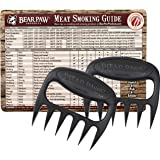 Bear Paw Products Original Bear Paws Meat Handler Forks - Set of 2 - Includes Meat Smoking Guide Magnet