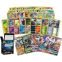 Ultra Rare Pokemon Bundle- 50+ Cards = 50 Cards + 2 foil Cards, 1 Random Ultra Rare Card, Plus a Free lightning card…