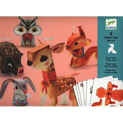 Djeco / Folded Paper Toy Kit, Pretty Woodland Animals: Toys & Games [5Bkhe0507377]