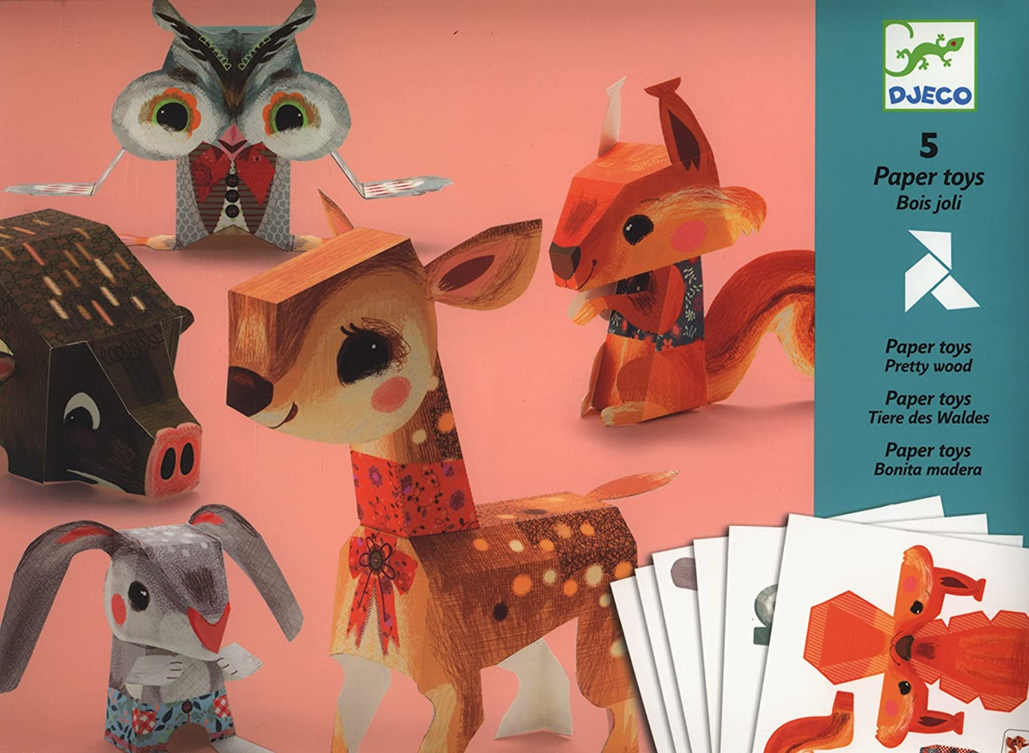 Djeco 3D Paper Toys - Pretty Woodland Creatures