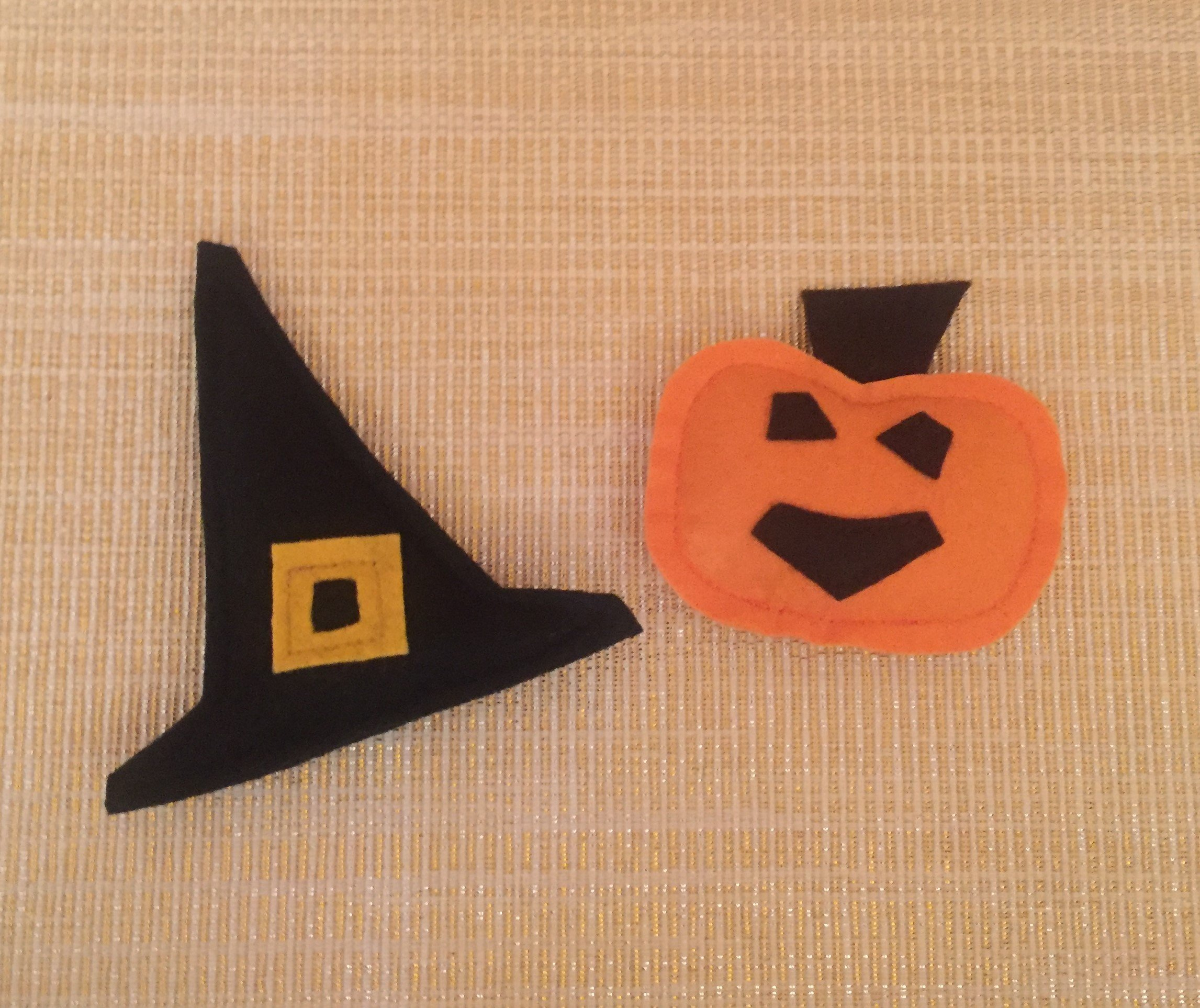 Halloween Pumpkin and Witch Hat Catnip Cat Toys by Furball Fanatic