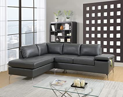 Swell Amazon Com Modern Reversible Sectional Sofa Living Room Pdpeps Interior Chair Design Pdpepsorg